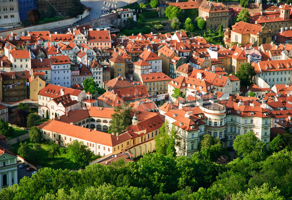 Stock photo: View on streets of Prague from Petrinska  tower