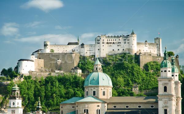 Fortezza Austria città sole strada edifici Foto d'archivio © Ionia