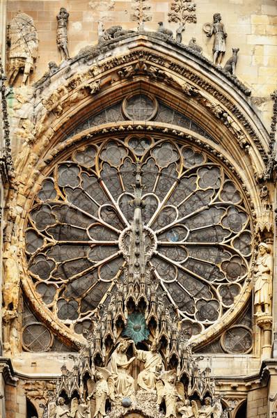 Katedry miasta kościoła niebieski architektury biały Zdjęcia stock © Ionia