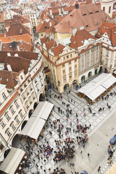 квадратный Прага пейзаж улице городского архитектура Сток-фото © Ionia