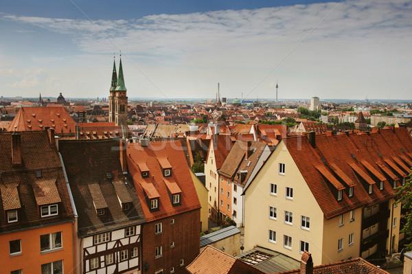 スカイライン ドイツ 城 アーキテクチャ 景観 表示 ストックフォト © Ionia