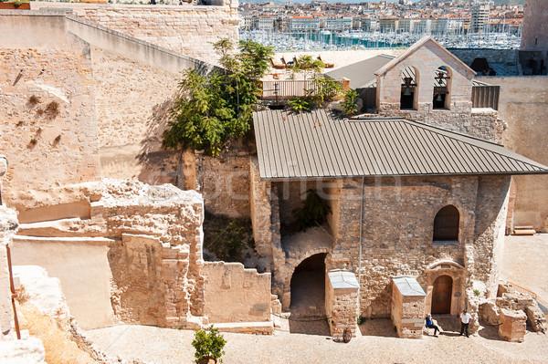 öreg építészeti tárgy Marseille kastély Stock fotó © Ionia