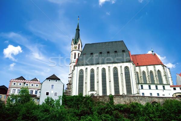 Kościoła święty niebieski Europie antyczne piękna Zdjęcia stock © Ionia