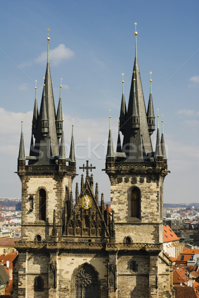 Old cathedral in Prague Stock photo © Ionia