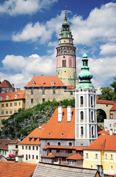 Widoku Czechy kościoła niebieski miejskich Europie Zdjęcia stock © Ionia