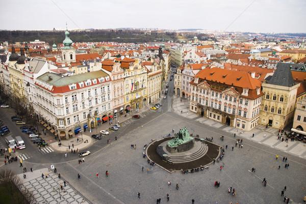 Starych placu Praha domu kościoła historii Zdjęcia stock © Ionia
