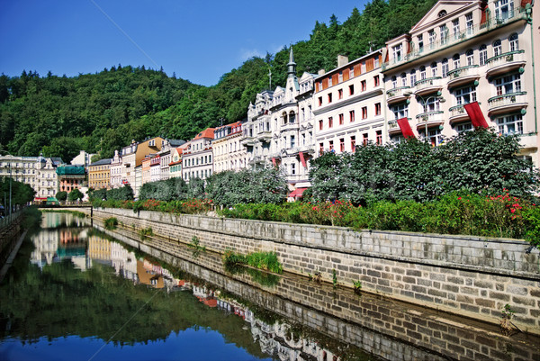 Landscape city center in Karlovy Vary. Czech Republic  Stock photo © Ionia
