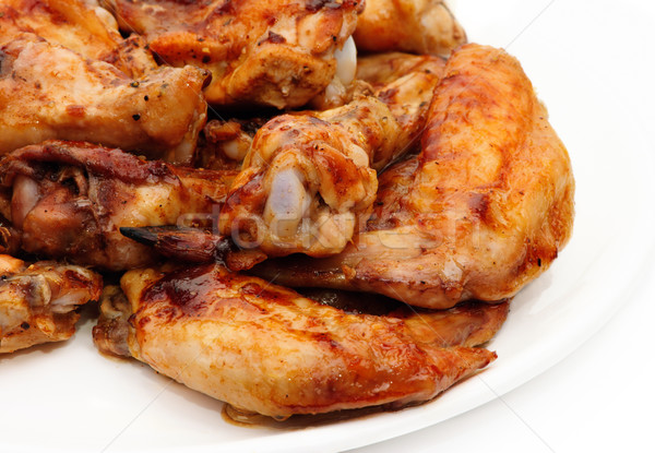 Tavuk bacaklar hazır tavuk kızartma gıda yaz Stok fotoğraf © Ionia
