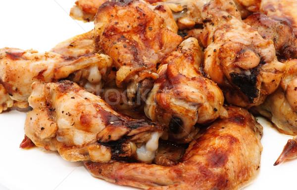 ızgara tavuk gıda restoran bacaklar park beyaz Stok fotoğraf © Ionia