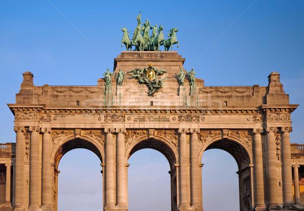 Arco Bruselas Bélgica Europa historia paisaje urbano Foto stock © Ionia
