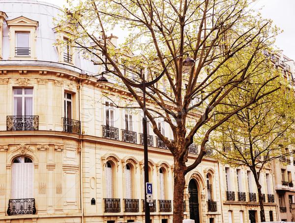 住宅 フランス語 通り パリ ポスト カード ストックフォト © iordani
