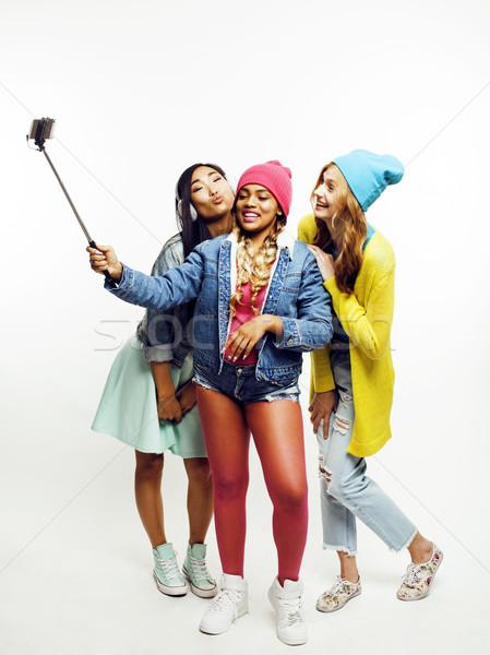 Ulus kızlar grup arkadaşlar Stok fotoğraf © iordani