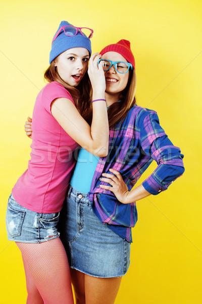 Lifestyle mensen twee mooie stijlvol moderne Stockfoto © iordani