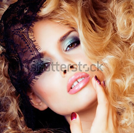Jungen ziemlich liebenswert Frau candy Stock foto © iordani
