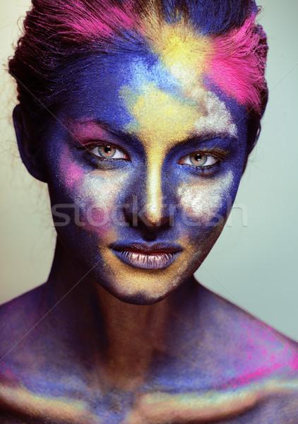 Belleza mujer creativa componen como Foto stock © iordani