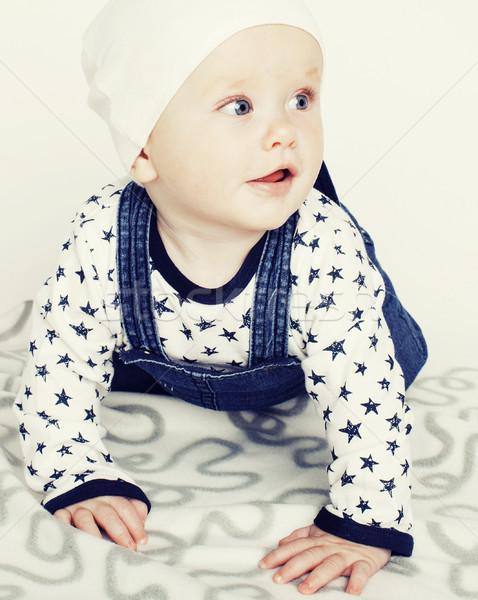 かわいい 赤ちゃん カーペット 孤立した ストックフォト © iordani