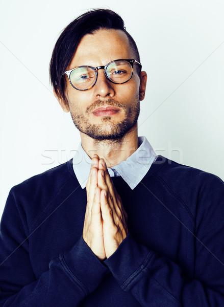 Bonito meio idade homem moderno Foto stock © iordani