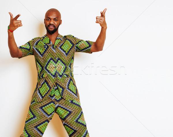 Portret młodych przystojny Afryki człowiek Zdjęcia stock © iordani