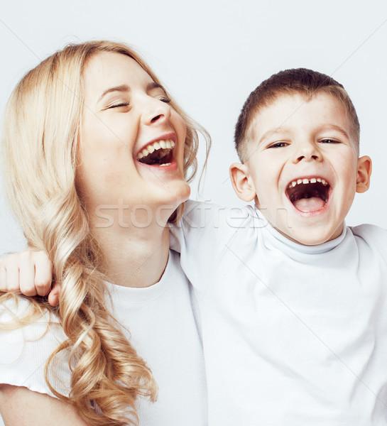 Foto d'archivio: Giovani · moderno · madre · cute · figlio