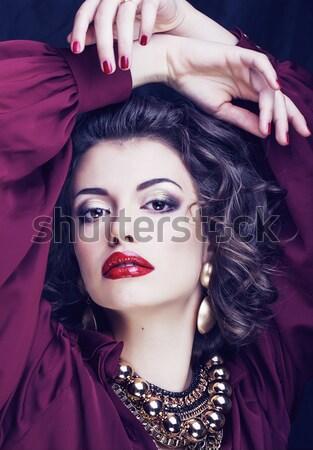 Fiatal szexi nő leopárd smink összes test Stock fotó © iordani