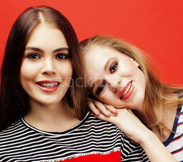 Dwa nastolatki wraz stwarzające Zdjęcia stock © iordani