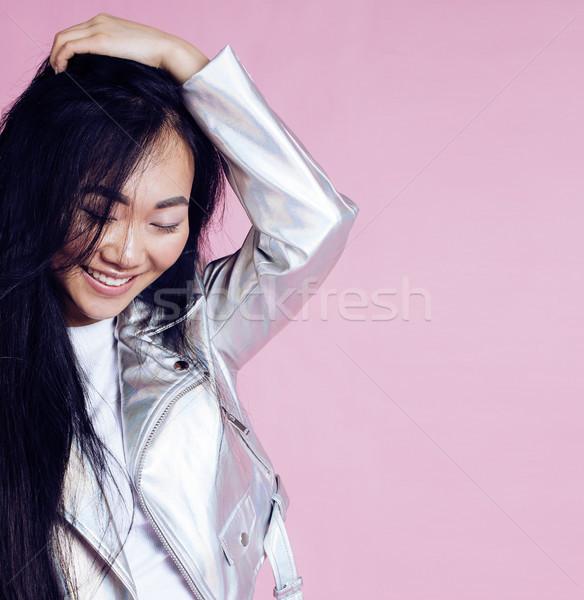 小さな かなり 笑みを浮かべて アジア 少女 着用 ストックフォト © iordani