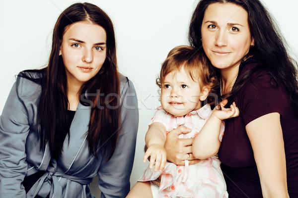 Fiatal csinos elegáns anya kicsi aranyos Stock fotó © iordani