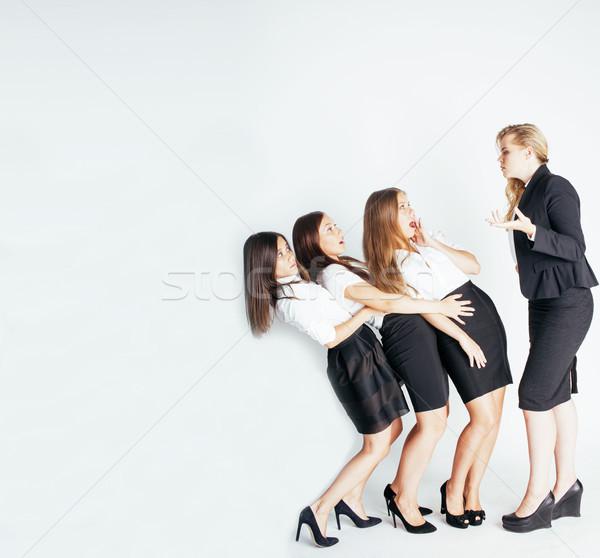 Korkutucu bayan patron yöneticileri beyaz Stok fotoğraf © iordani