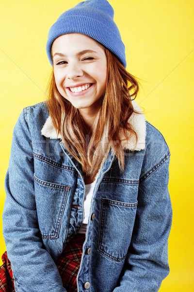 Genç güzel kız poz Stok fotoğraf © iordani