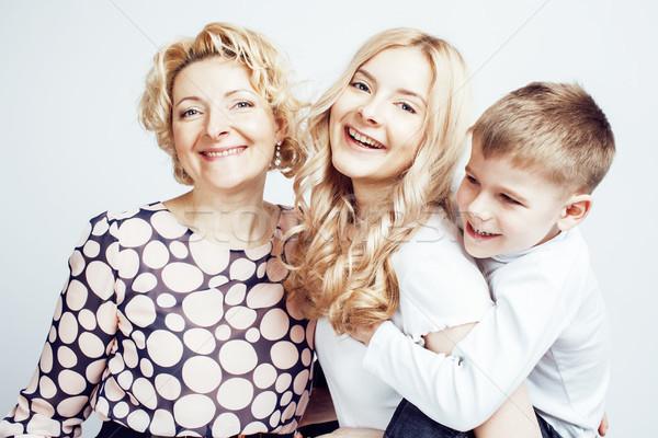 Stok fotoğraf: Mutlu · gülen · aile · birlikte · poz