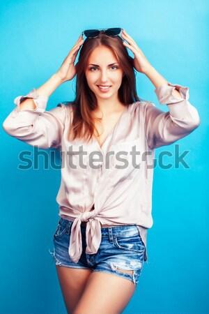 Jonge blond vrouw zoals oude Grieks Stockfoto © iordani