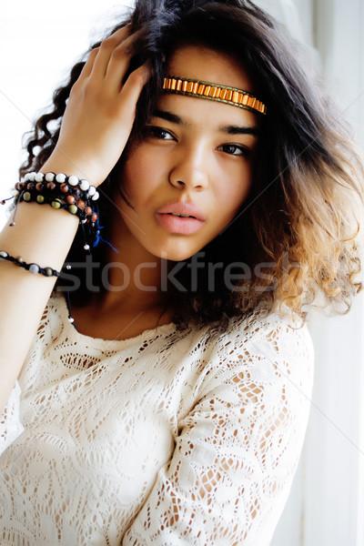 Adorable negro África como Foto stock © iordani