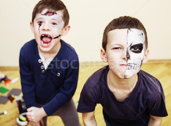 Zombie apocalypse kinderen verjaardagsfeest viering kinderen Stockfoto © iordani