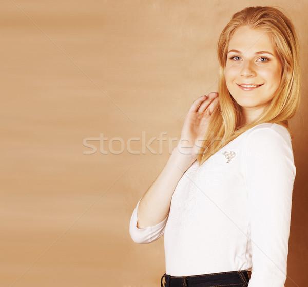 Jungen cool Haar lächelnd Stock foto © iordani