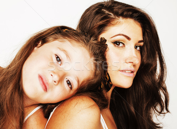 Genç anne küçük sevimli kız Stok fotoğraf © iordani