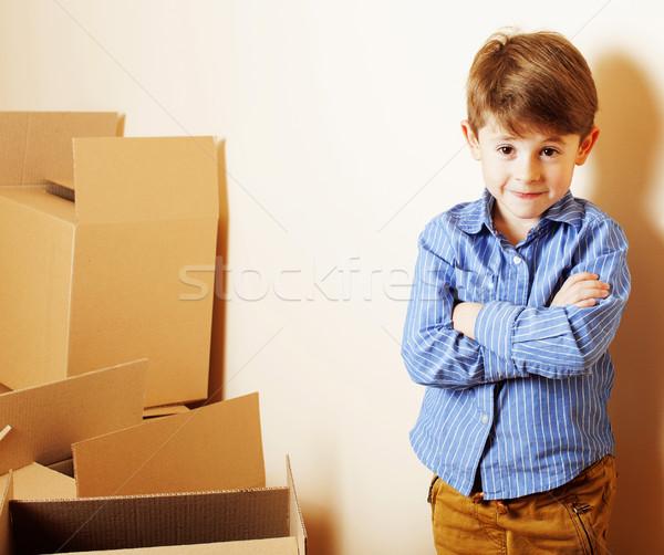 Photo stock: Peu · cute · garçon · salle · vide · maison