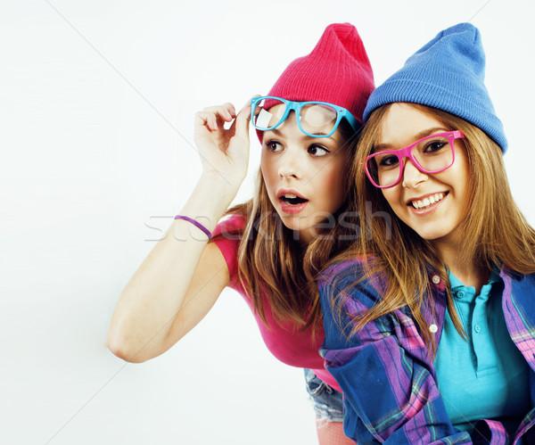 Stockfoto: Tienermeisjes · samen · poseren