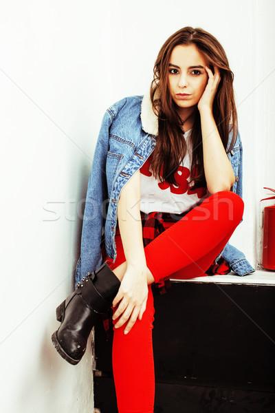Jóvenes bastante elegante nina posando Foto stock © iordani