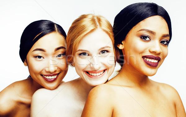 Tres diferente nación mujer Asia caucásico Foto stock © iordani