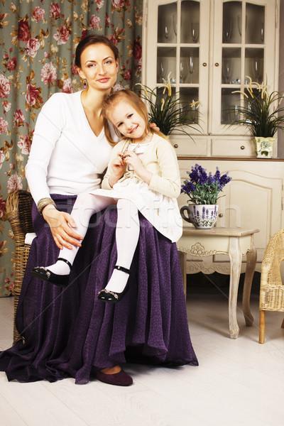 молодые матери дочь роскошь домой интерьер Сток-фото © iordani