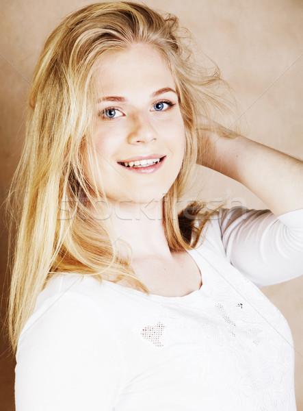 Jóvenes fresco pelo sonriendo Foto stock © iordani