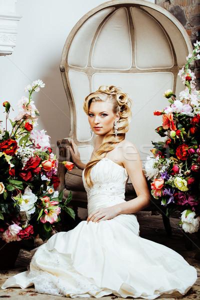 美 小さな 花嫁 だけ 高級 ヴィンテージ ストックフォト © iordani
