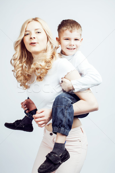小さな 現代 ブロンド 母親 かわいい ストックフォト © iordani
