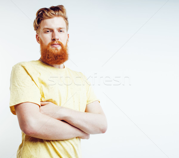Giovani bello barbuto ragazzo guardando Foto d'archivio © iordani