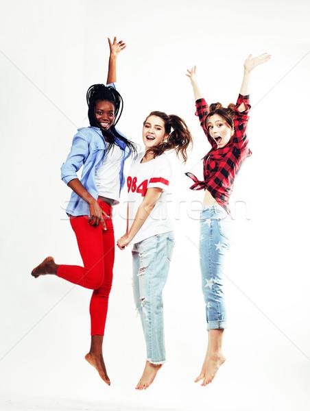 3  かなり 小さな 十代の少女 友達 ストックフォト © iordani