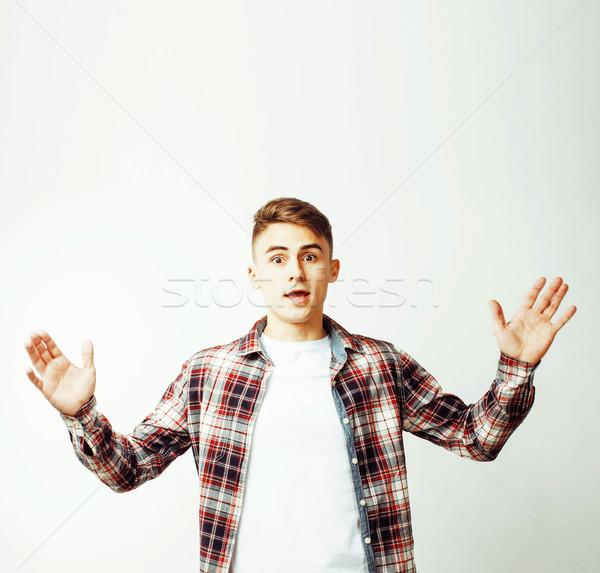 Młodych przystojny facet stwarzające Zdjęcia stock © iordani