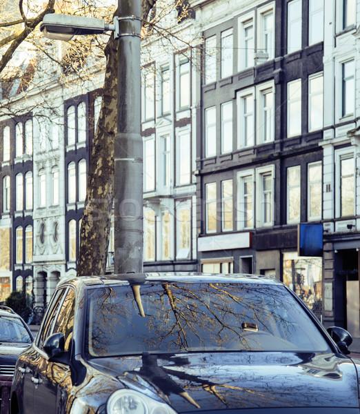 европейский стоянки автомобилей Амстердам фасад Сток-фото © iordani