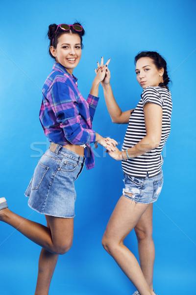 En İyi arkadaşlar okul kızlar birlikte Stok fotoğraf © iordani
