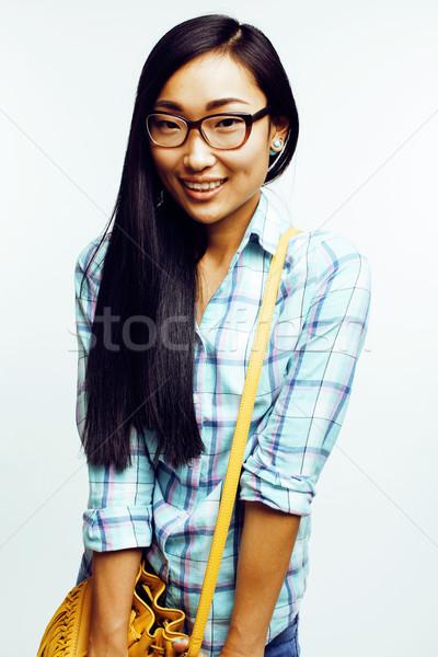 小さな かなり 長髪 アジア 女性 幸せ ストックフォト © iordani