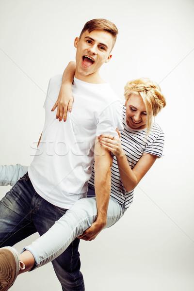 Młodych dość para facet Zdjęcia stock © iordani